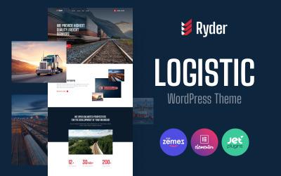 Ryder - Логістичний дизайн веб-сайту для WordPress теми, що рухається компанії