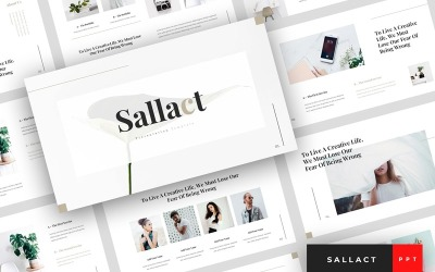 Sallact - kreativní PowerPoint šablona