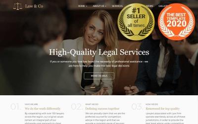 Law & Co - адаптивний шаблон Drupal