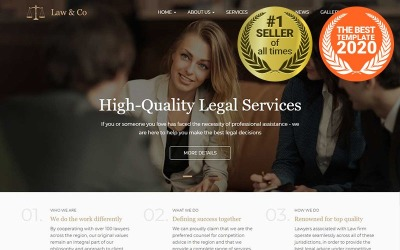 Law & Co - Адаптивный шаблон Drupal