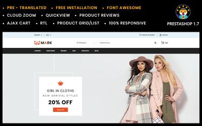 Mark Moda ve Ayakkabı Mağazası PrestaShop Teması