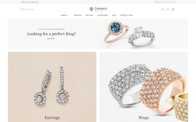 Gemany - Mücevher Mağazası Şablonu Magento Teması