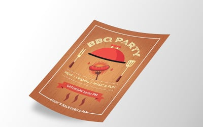 BBQ Party Flyer - Corporate Identity Template