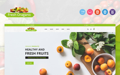 Čerstvá organická šablona OpenCart
