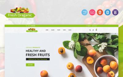 Świeży organiczny szablon OpenCart