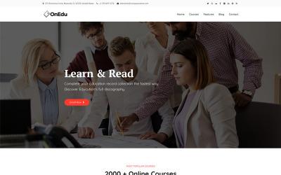 Onedu - Education Courses LMS WordPress Theme