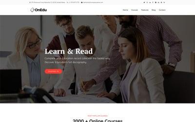 Onedu - тема WordPress для образовательных курсов LMS