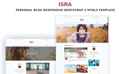 ISRA - Personal Blog Website Template