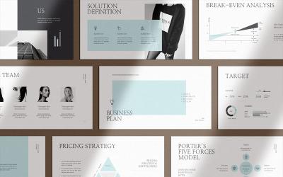 Чистий і чіткий бізнес-план Google Презентації