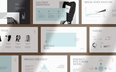 Clean & Clear Business Plan Google Slides