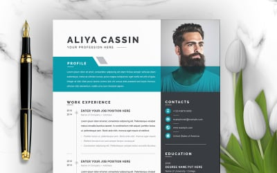 Plantilla de CV de Aliya
