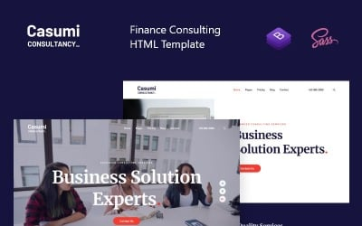 Casumi - Finance, Consulting HTML Website Template
