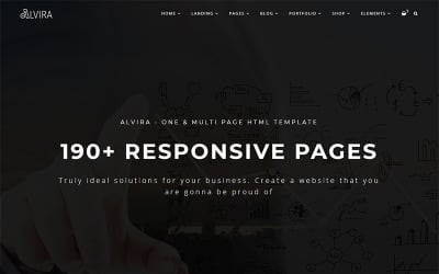 Alvira - One and Multi Page HTML Website Template
