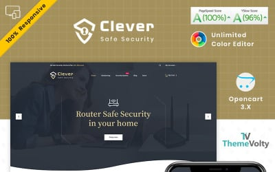 Clever electronics–security store opencart template