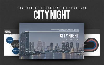 City Night PowerPoint template