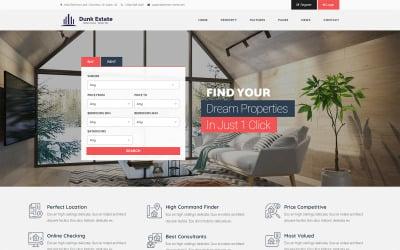 Tema de WordPress para bienes raíces dinámicas de Dunk
