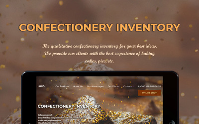 Confectionery Inventory Online Store Landing PSD Template