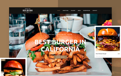 Motyw WordPress dla Kolbern Burger Bar & Cafe