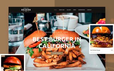WordPress тема Kolbern Burger Bar & Cafe
