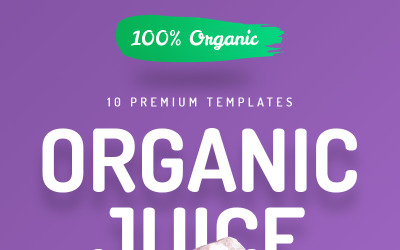 Organic Juice - 10 Premium Hero Image Templates Product Mockup