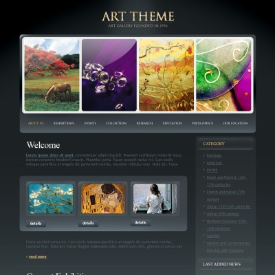 Art Gallery Silverlight Template