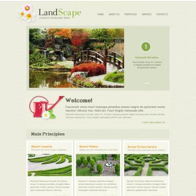 Landscape Design Website Templates