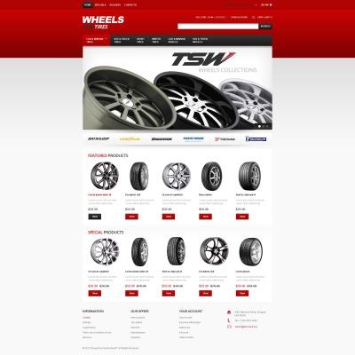 PrestaShop Theme für Räder & Reifen