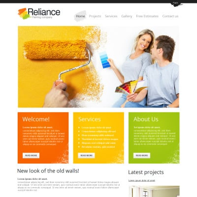Painting Company Responsive Website Template #55471