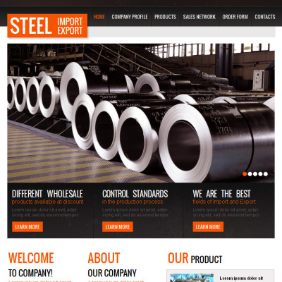 Steelworks Facebook HTML CMS Template