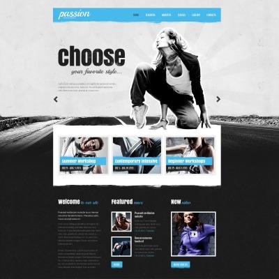 Dance Studio Website Template #43358