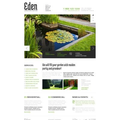 Landscape Design Responsive Website Template #43643