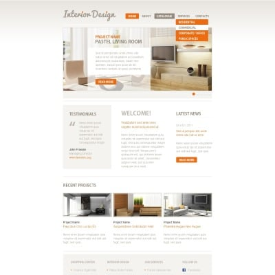 Facebook layouts for Interior design facebook pages
