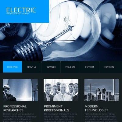 Szablon Facebook HTML CMS #44644 na temat: oświetlenie i energia elektryczna