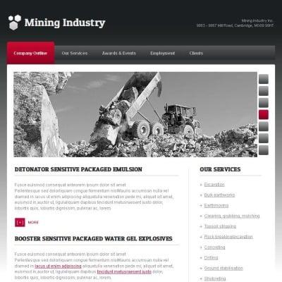 Szablon Facebook HTML CMS #44720 na temat: przedsiębiorstwo górnicze