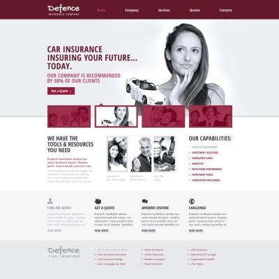 Insurance Responsive Website Template #46001