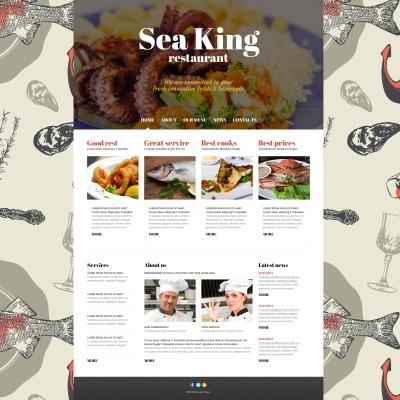 Thème Joomla adaptatif  pour restaurant de fruits de mer