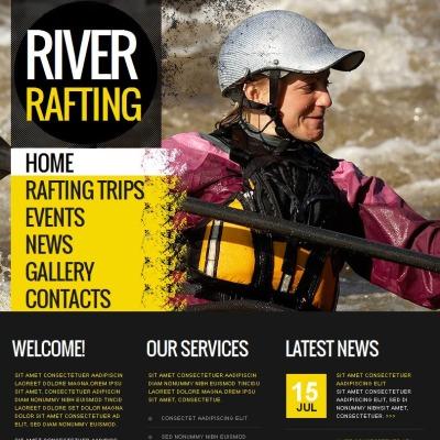 Szablon Facebook HTML CMS #46424 na temat: rafting
