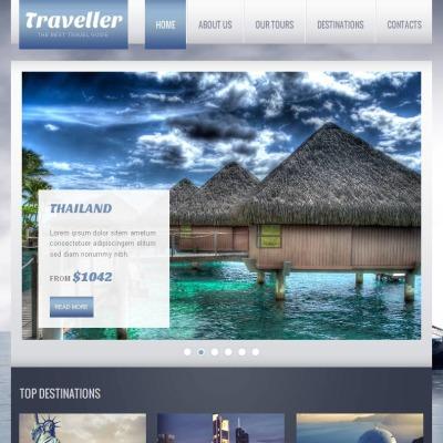 Szablon Facebook HTML CMS #46608 na temat: przewodnik turystyczny