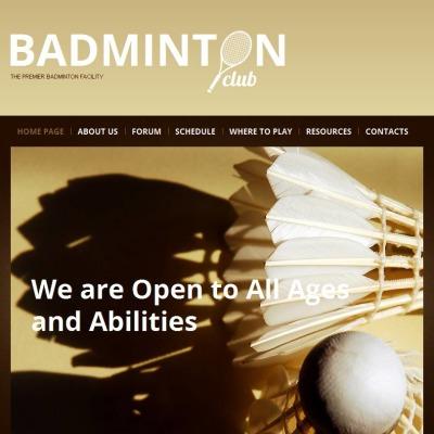 Szablon Facebook HTML CMS #46757 na temat: Badminton