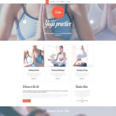 Yoga Website Themes