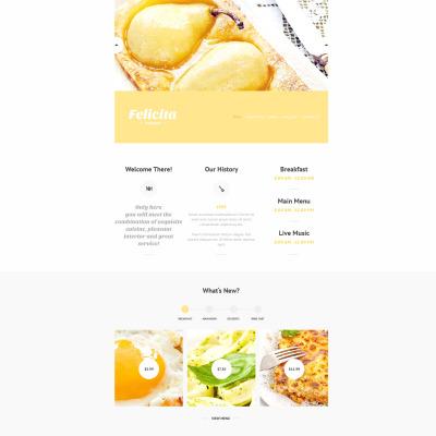 French Restaurant Responsive Website Template