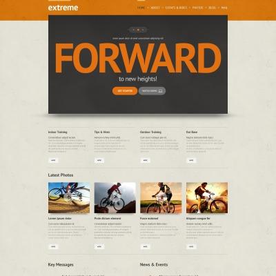 Thème WordPress adaptatif  pour site de sports extrêmes