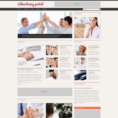 advertising agency templates templatemonster. Black Bedroom Furniture Sets. Home Design Ideas