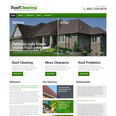 Nice Roofing Website Design Templates