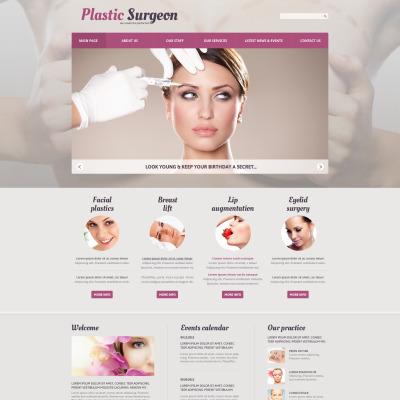 Thème Joomla adaptatif  pour site de chirurgie plastique