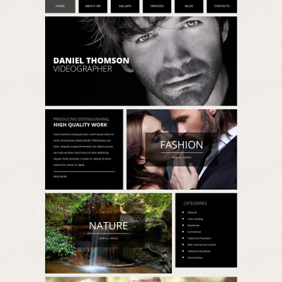Online Portfolio Template. 70 cool website templates for artists ...