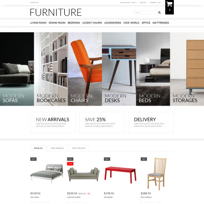 Furniture Responsive PrestaShop Theme