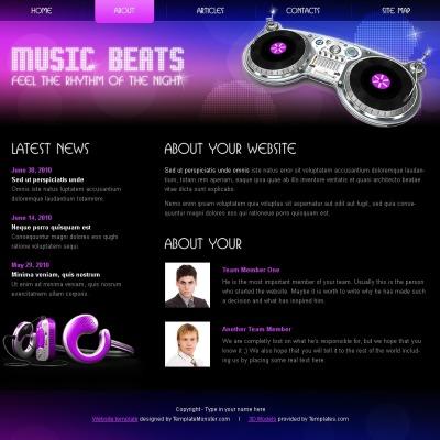 Music Шаблон сайту