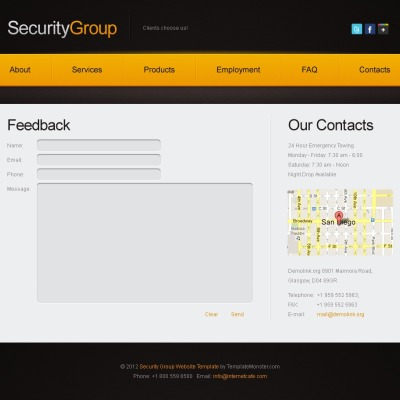 Security Шаблон сайту