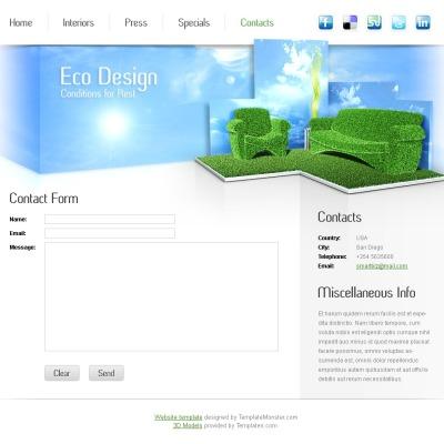 Interior & Furniture Шаблон сайту